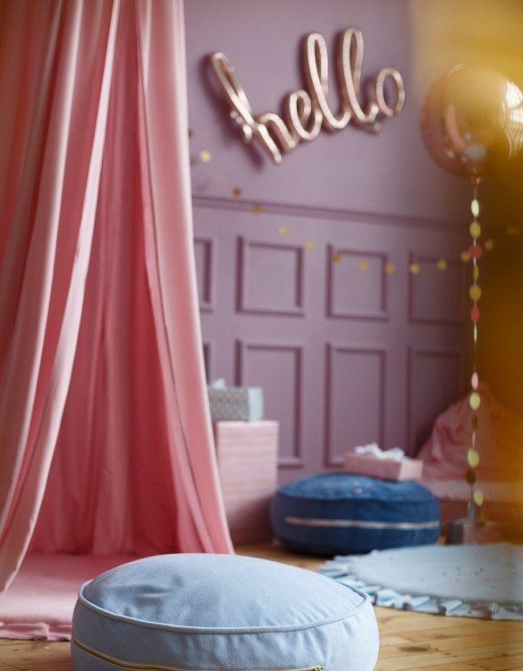 Great to have in a teenager's den, children's playroom or chill out zone, the Blue Velvet Soft Children's Ottoman is wonderfully cute, cosy and a great centerpiece to any room.