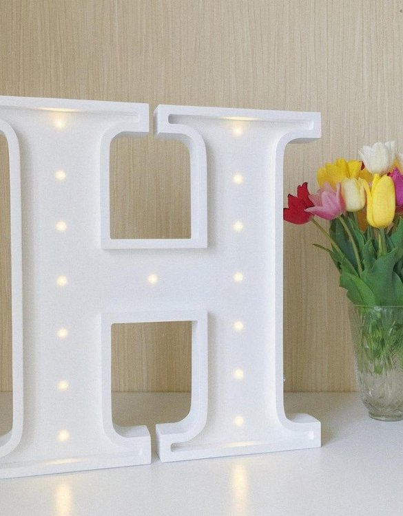 Certain to be a favourite in any family home the Letter H Marquee Light Sign creates a talking point which catches attention and expresses your passion for stand out design. Perfect for anyone who enjoys something a little different.