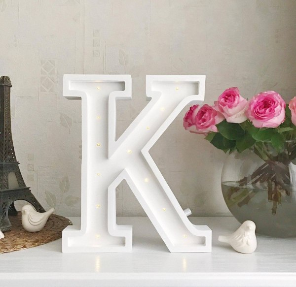 Letter K Marquee Light Sign