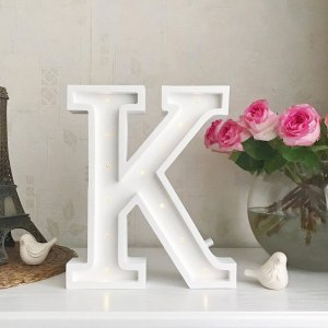 Certain to be a favourite in any family home the Letter K Marquee Light Sign creates a talking point which catches attention and expresses your passion for stand out design. Perfect for anyone who enjoys something a little different.