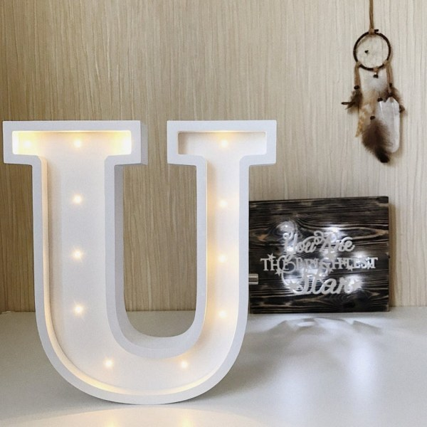 Letter U Marquee Light Sign