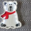 Perfect for setting a calm moon in your kid's bedroom, the White Bear Decorative Night Light gives a soft glow when turned on.