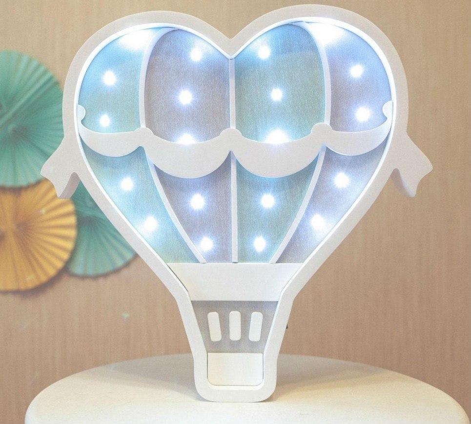 White Hot Air Ballon Decorative Night Light – 3