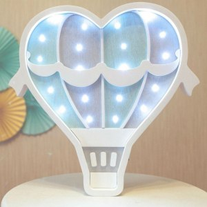 Perfect for setting a calm moon in your kid's bedroom, the White Hot Air Balloon Decorative Night Light gives a soft glow when turned on.