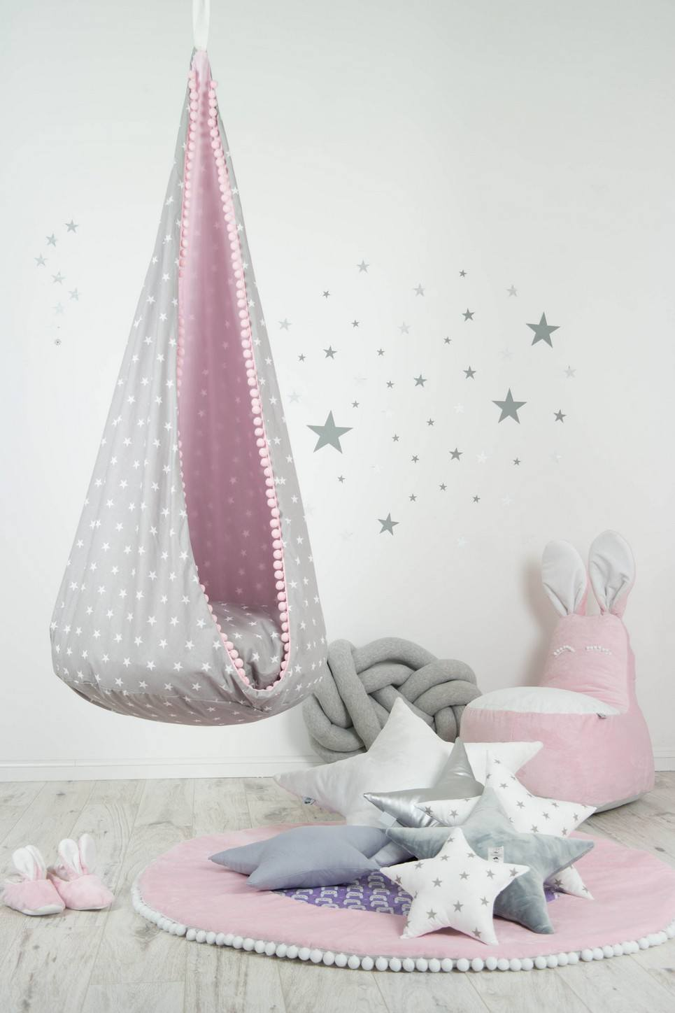 Hanging Cocoon Chair Swing Pink Dust