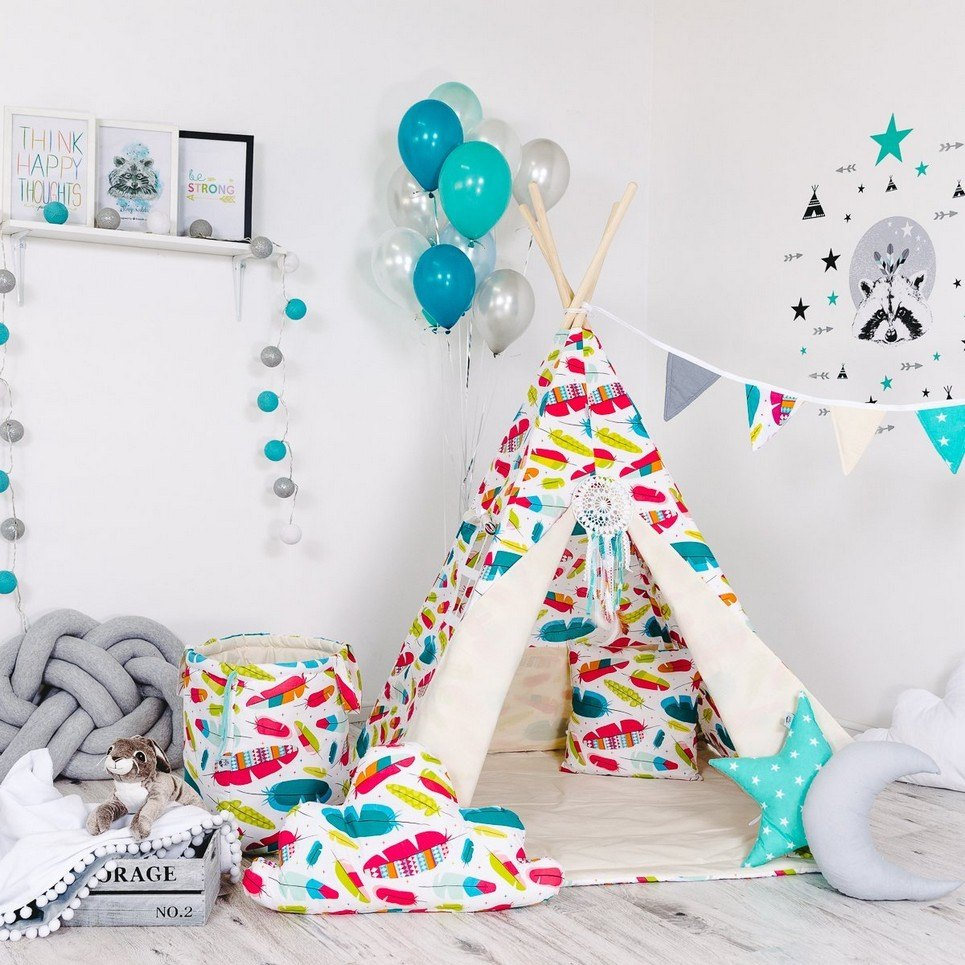 Child's Teepee Set Colourful Wind
