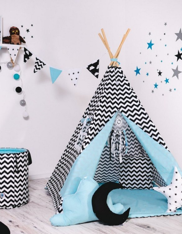 Give your little one the space they need to let their imagination flow with the Child's Teepee Set Creative Cumulus. This handcrafted children's teepee tent is a versatile play space which is as beautiful as it is fun.