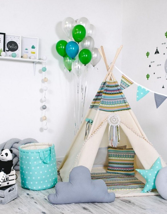 Give your little one the space they need to let their imagination flow with the Child's Teepee Set Indian Adventure. This handcrafted children's teepee tent is a versatile play space which is as beautiful as it is fun.