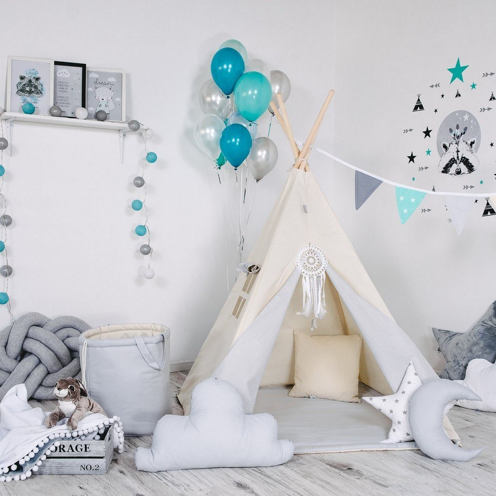 Child's Teepee Set Polar Bear