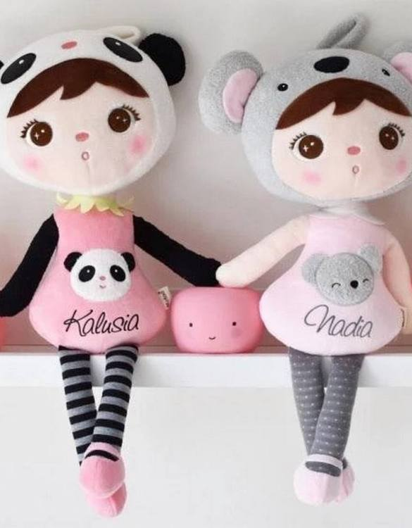 Perfect to capture the essence of an idyllic childhood, the Personalised Soft Dolls Panda makes the perfect gift for your little one. This personalised baby doll is a really popular gift for little girls and is suitable for newborn babies too.