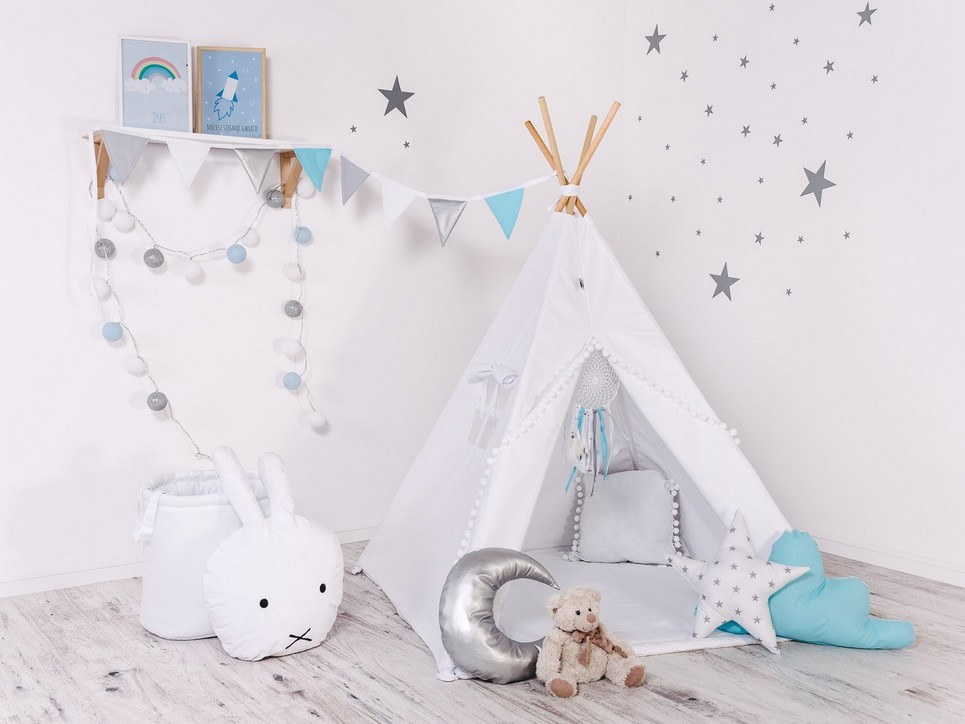 Child's Teepee Set Paint Me With White Balls – 1