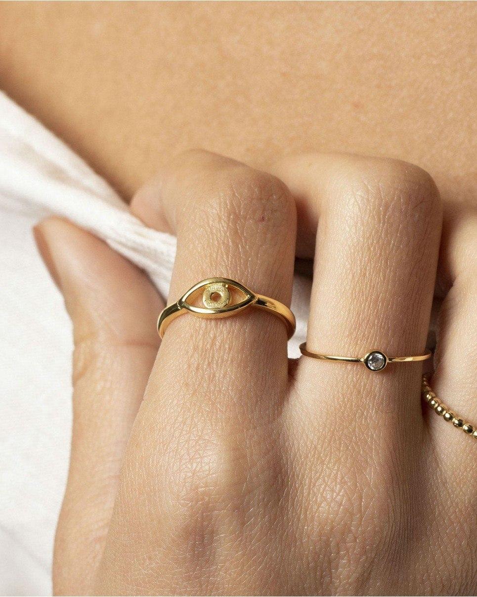Eye Gold Ring