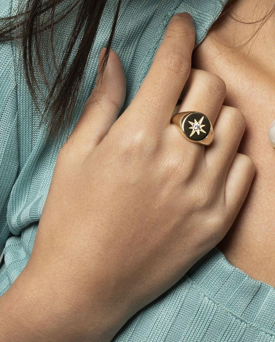 Polaris Signet Gold Ring
