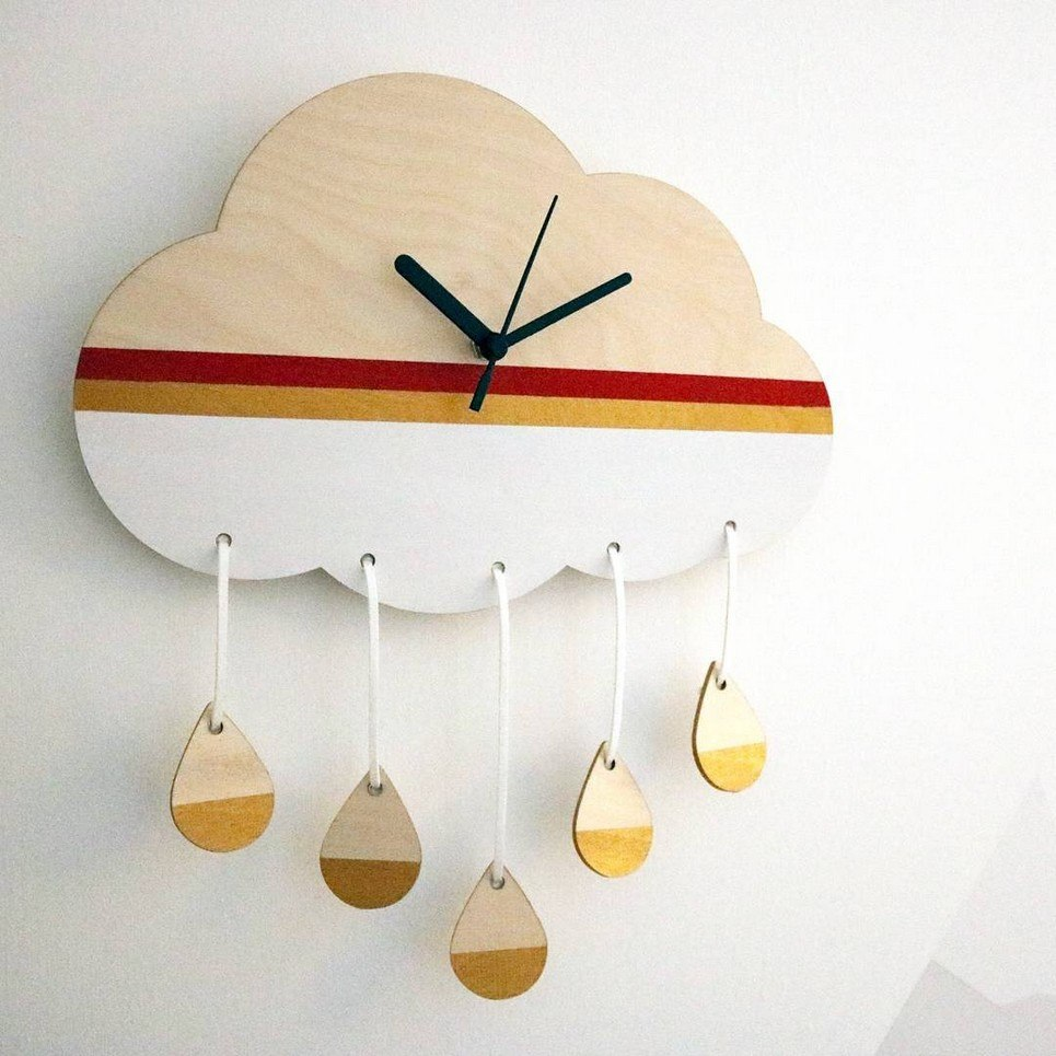 Decorative Wall Clock – Rain Cloud