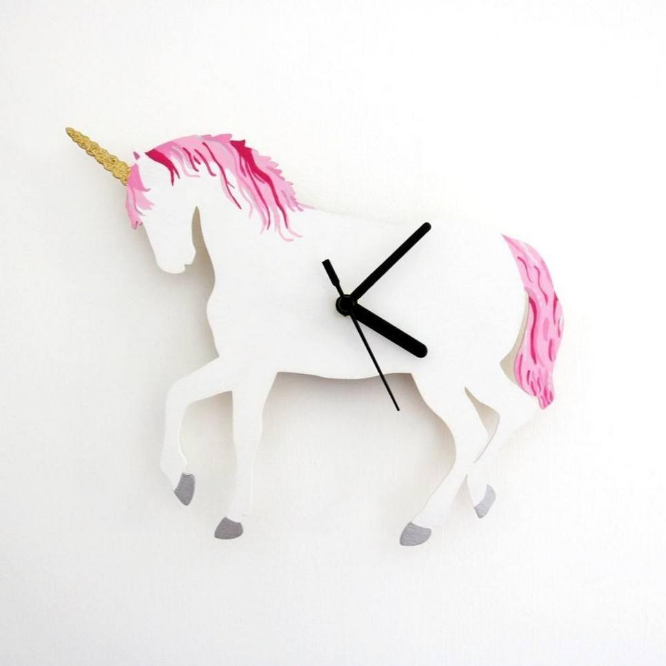 Decorative Wall Clock – Unicorn