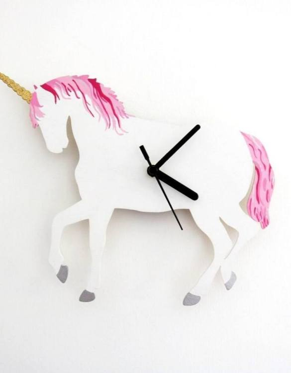 Can be hung up on a wall or placed on a shelf the Decorative Wall Clock - Unicorn will make learning to tell the time lots of fun for young children. This bedroom wall clock looks amazing on the wall of a daughter, son, grandchild, or godchild's playroom, bedroom or nursery.