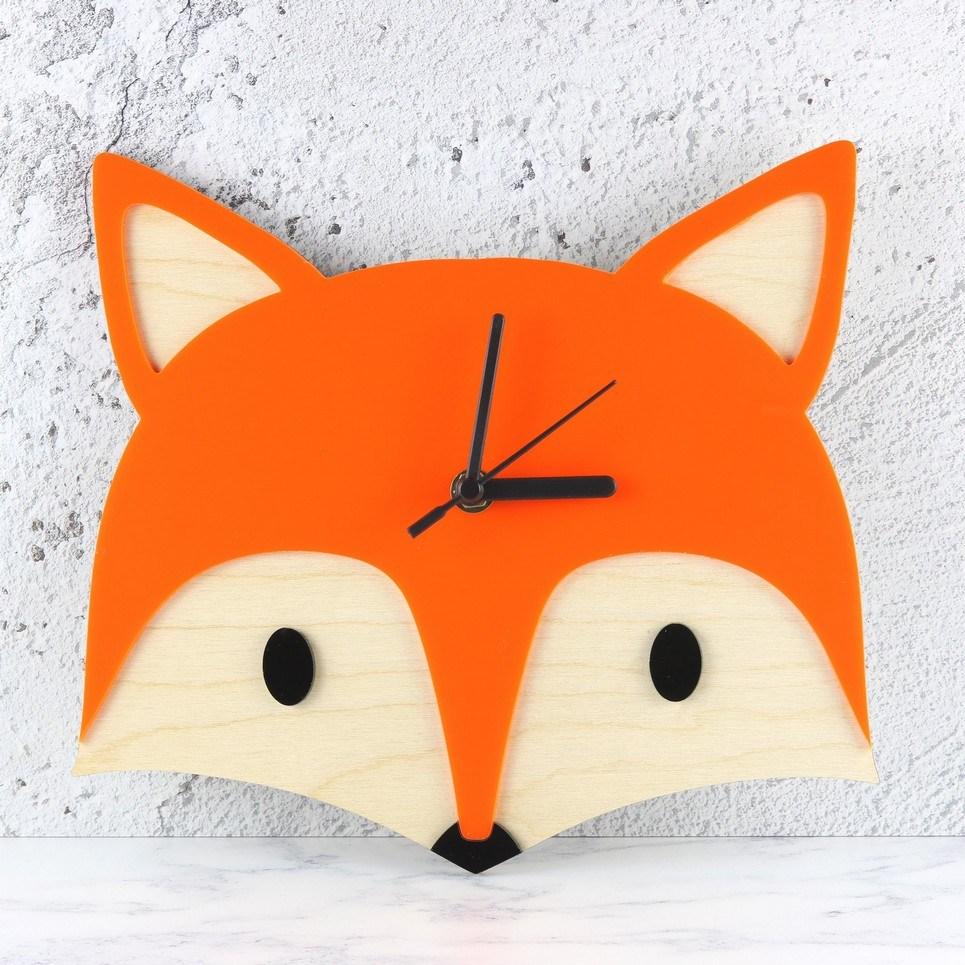 Decorative Wall Clock – Woodland Fox