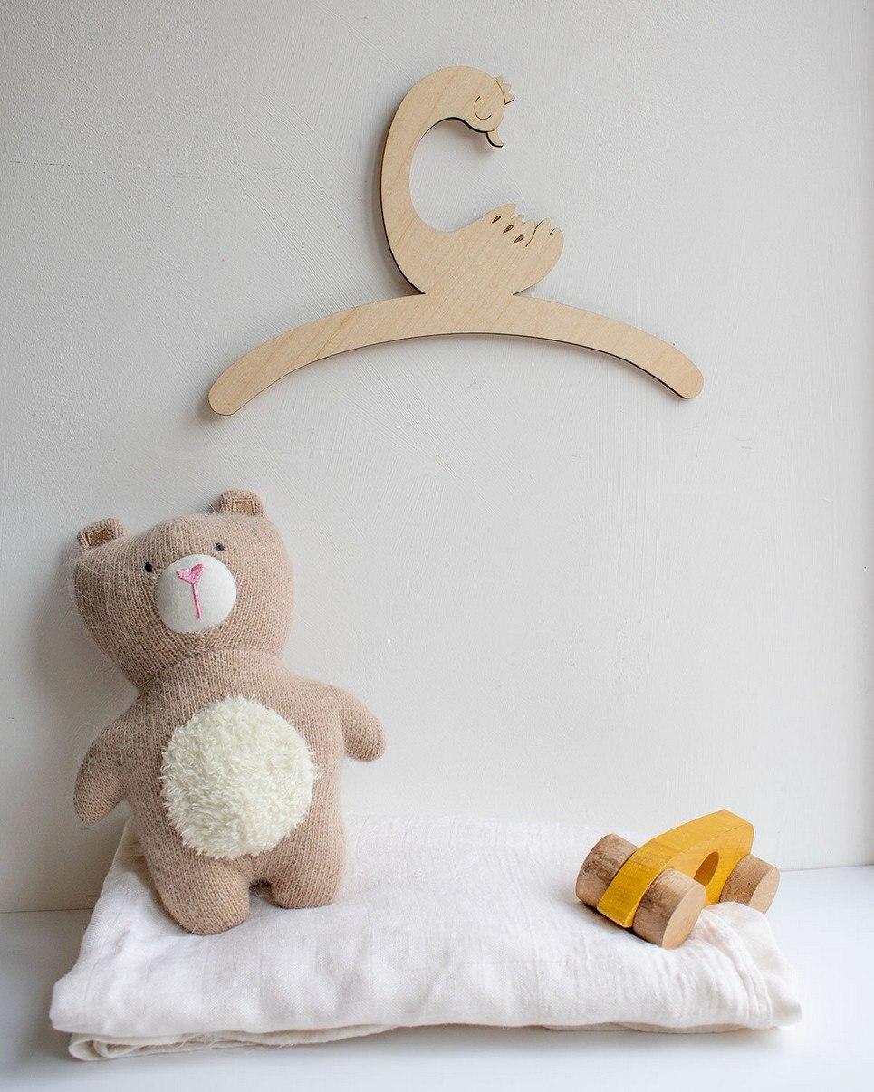 Little Duck Child's Wooden Coat Hanger