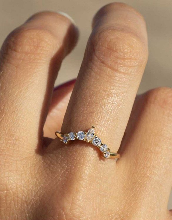 A truly luxurious gift for a friend, or a special treat for yourself, the Stack CZ Gold Ring is a cool way to show a little love. It would be a perfect anniversary, Christmas or birthday gift.