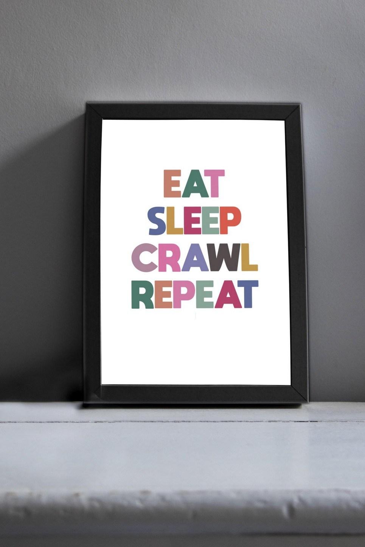 Eat Sleep Modern Art Print