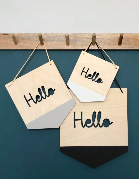 A great way to personalise your space, the Hello Hanger is beautiful wooden plaque to hang proudly in your new home!