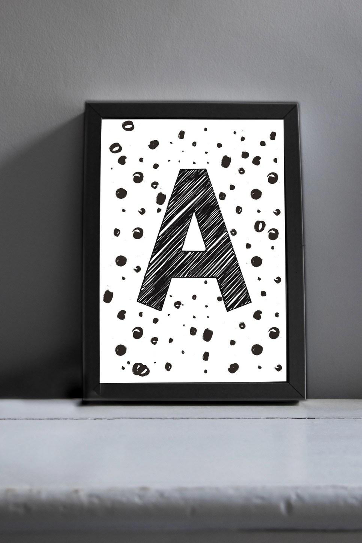 Initial Art Print