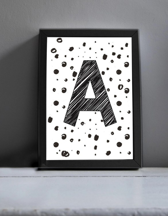 Brighten up your home with the Initial Art Print. Amaze a little 'super hero' with this fabulous modern art print, lovingly made just for him.