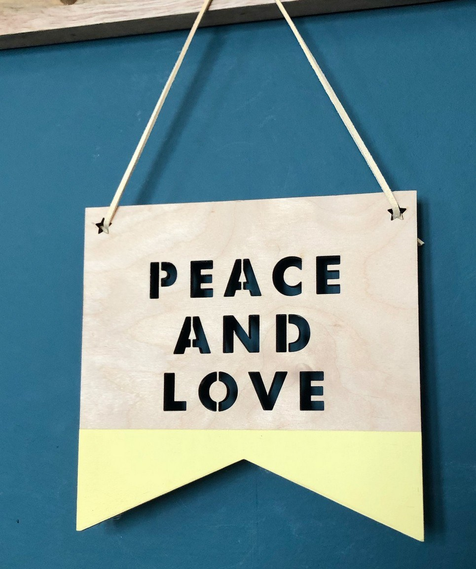 Peace and Love Plaque