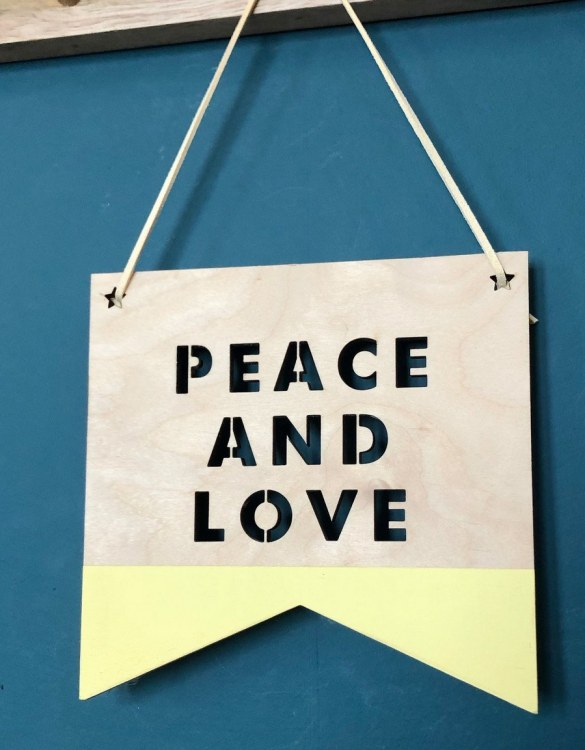 A great way to personalise your space, the Peace and Love Plaque is beautiful wooden plaque to hang proudly in your new home!