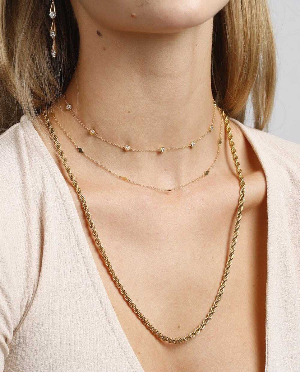 Domino Gold Necklace