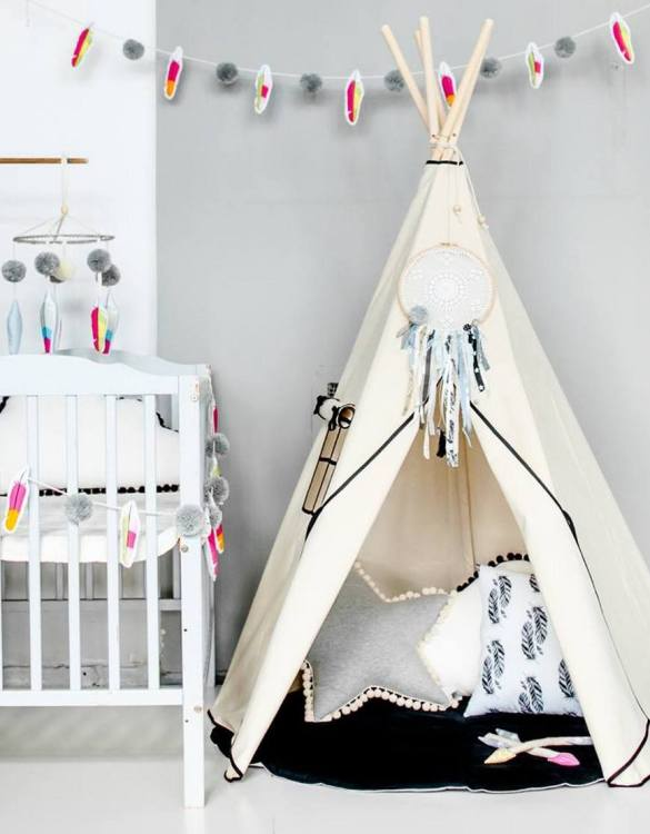 A beautifully handcrafted playtent for little adventurers, the Accent Children's Play Teepee is a versatile play space which is as beautiful as it is fun. Younger children will enjoy playing camp, hosting a tea party and allowing their imagination to run free (a shop one day a space rocket the next!).