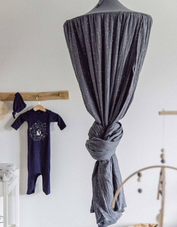 Create a safe fairytale-like environment for little ones with the Anthracite Children's Bed Canopy. This canopy will suspend neatly above your child's bed or in the corner of room decoration for a baby, to create the perfect space for reading and playing.