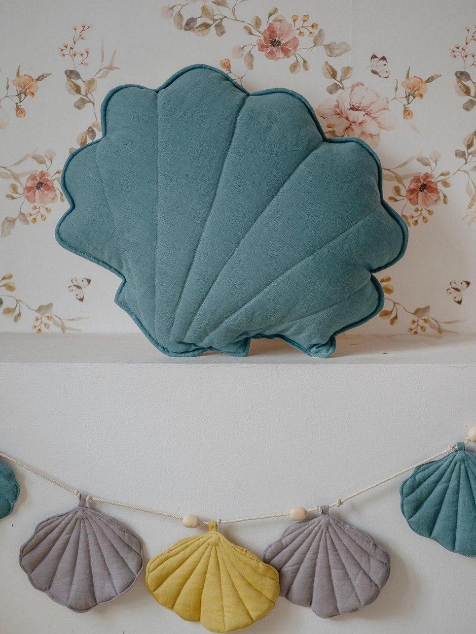 Eye Of The Sea Linen Shell Cushion