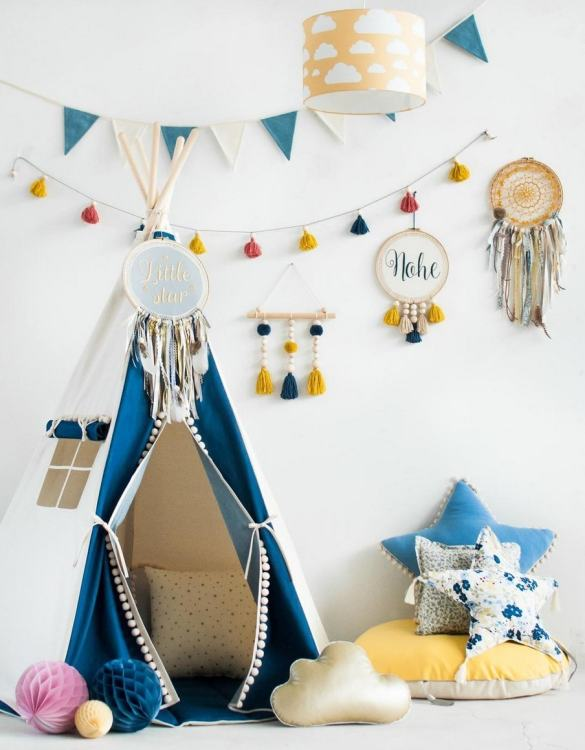 A beautifully handcrafted playtent for little adventurers, the Jeans Children's Play Teepee is a versatile play space which is as beautiful as it is fun. Younger children will enjoy playing camp, hosting a tea party and allowing their imagination to run free (a shop one day a space rocket the next!).