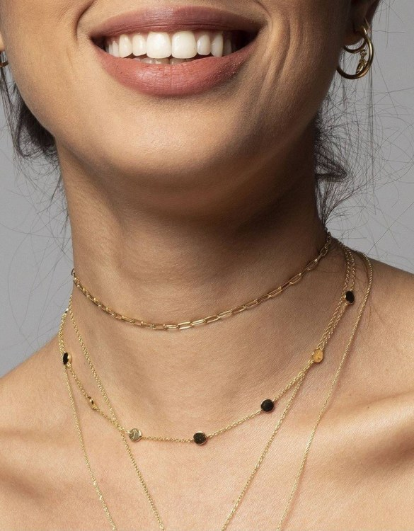 With a sleek, minimal and contemporary design, the Mike Gold Necklace is the perfect everyday accessory for effortless elegance. This special sterling silver necklace has been designed to represent happiness, so whoever wears can be set on the path to joy.