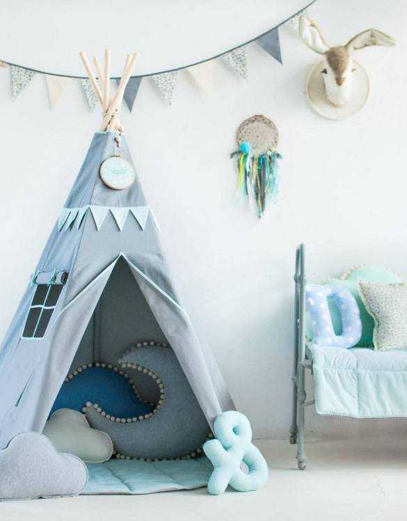 A beautifully handcrafted playtent for little adventurers, the Mint Love Children's Play Teepee is a versatile play space which is as beautiful as it is fun. Younger children will enjoy playing camp, hosting a tea party and allowing their imagination to run free (a shop one day a space rocket the next!).