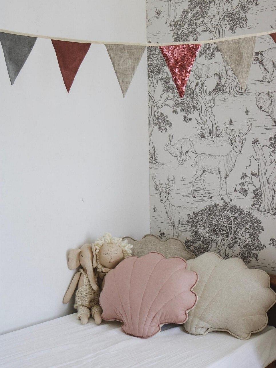 Powder Pink Linen Shell Cushion