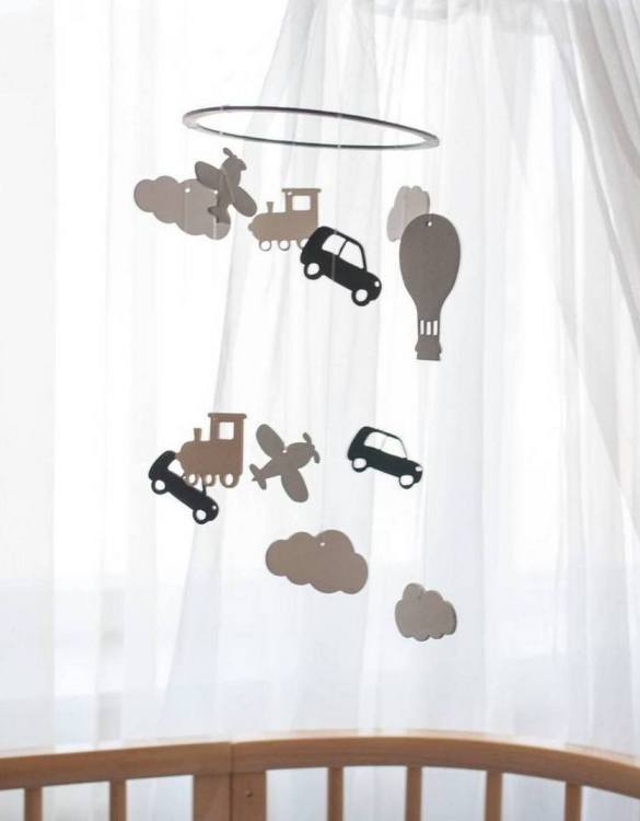 A perfect addition to any baby's room, the Adventure Wooden Baby Mobile enchants children's eyes and escorts them into the land of dreams. This enchanting neutral gender baby mobile is sure to delight any child and will make the cutest addition to a woodland themed nursery decor.