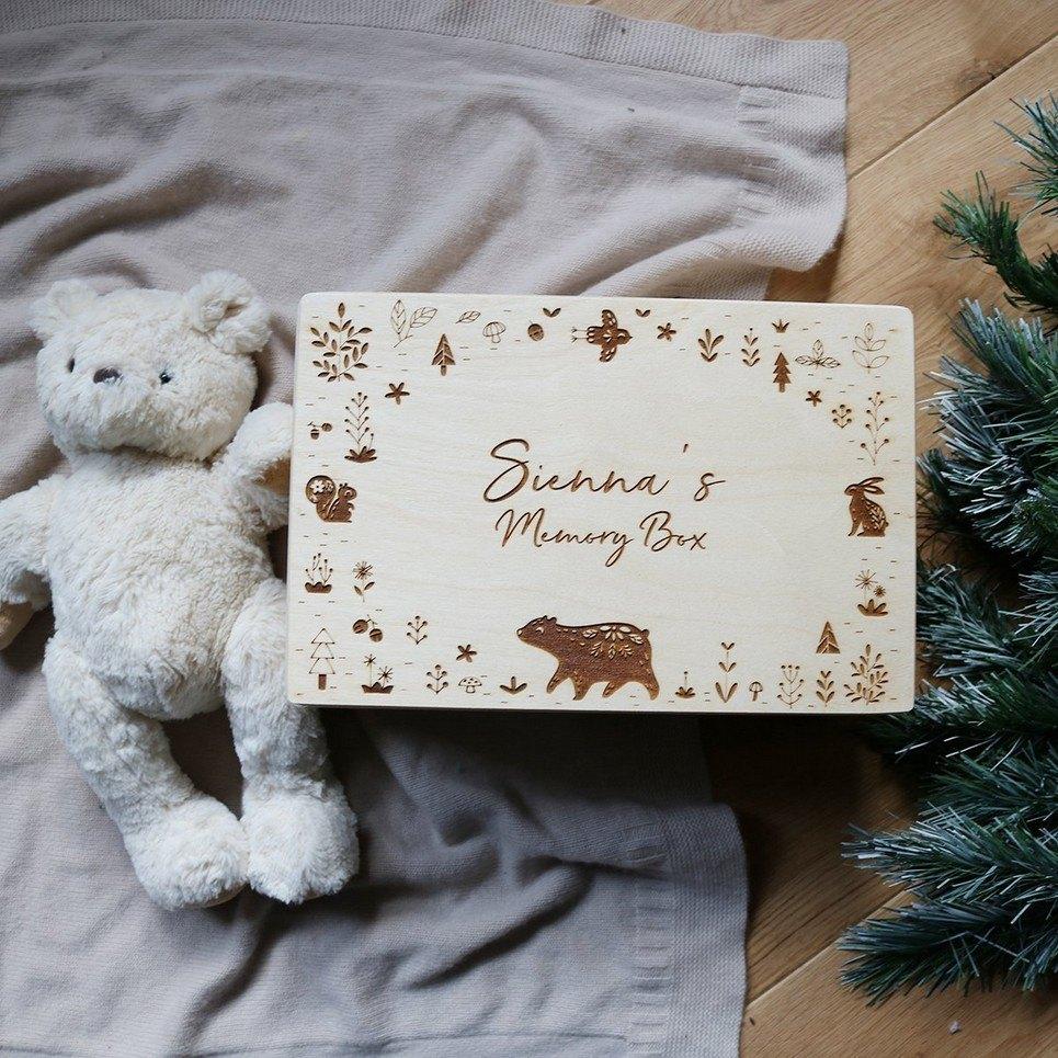 Animal Personalised Baby Memory Box