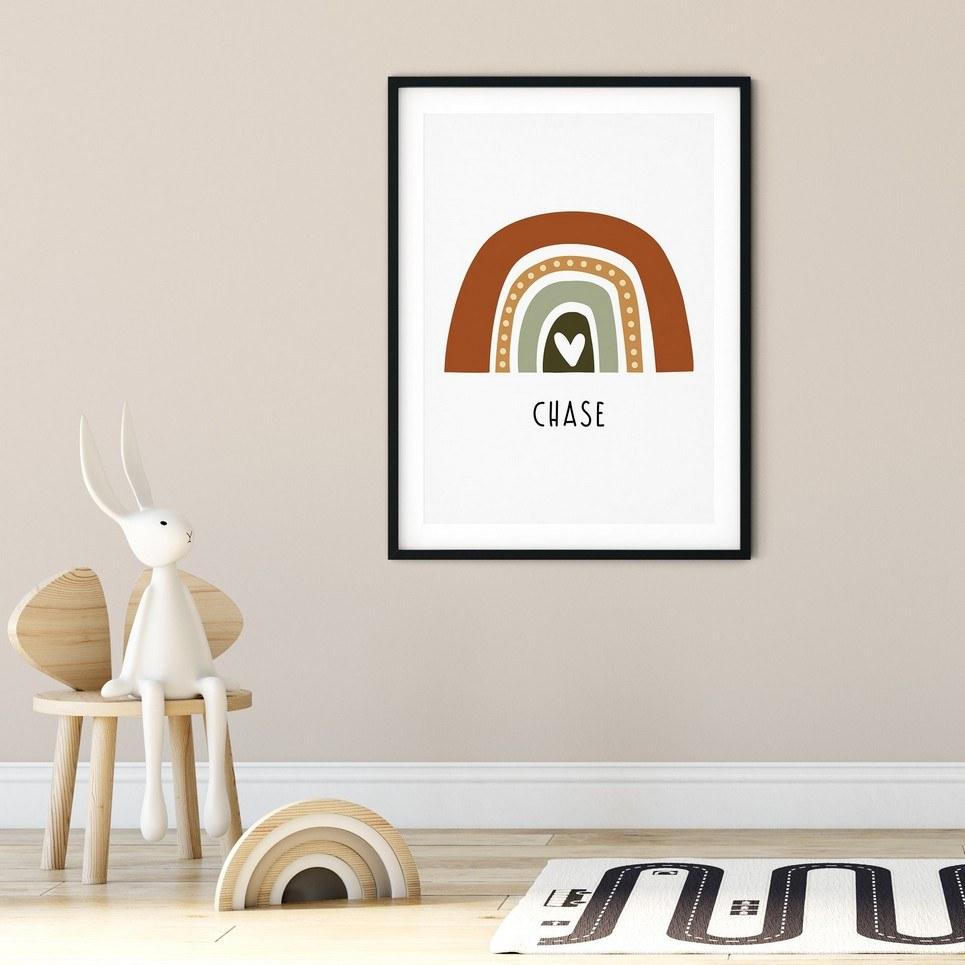 Boho Rainbow Print – Woodland