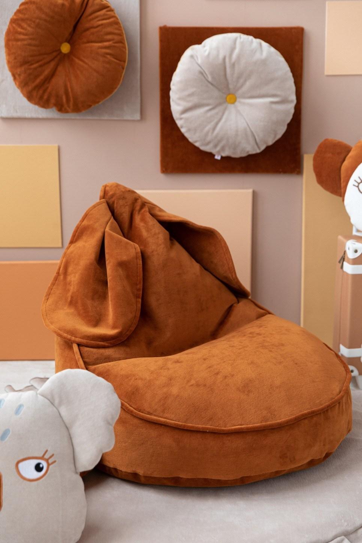Bunny Velvet Cinnamon Children's Bean Bag