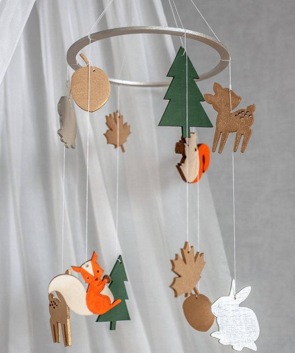 Forest Wooden Baby Mobile