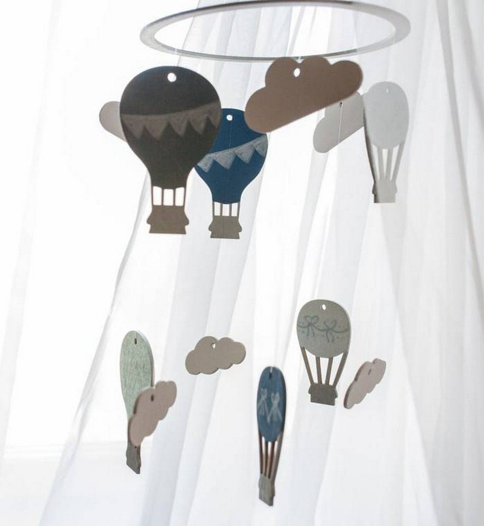 Hot Air Balloon Wooden Baby Mobile