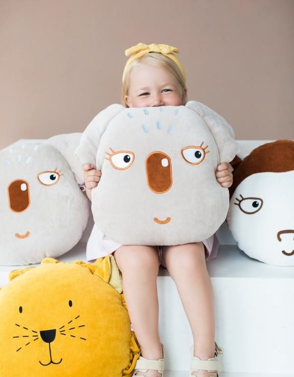 Ready for bedtime cuddles, the Koala Children's Cushion makes a thoughtful gift, sending a great big hug when your arms won't reach.