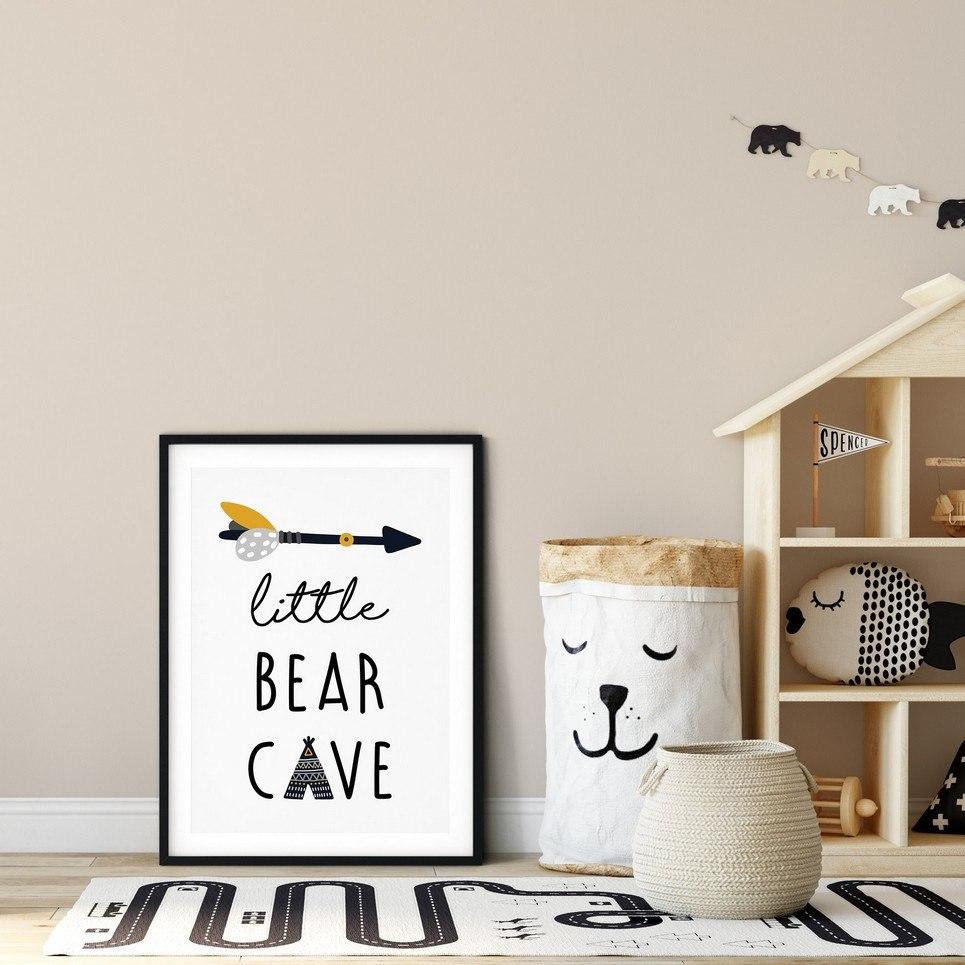 Little Bear Cave Nursery Print