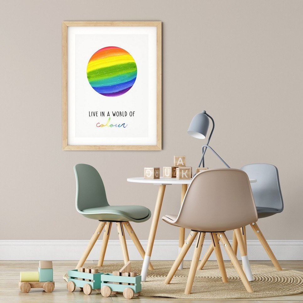 Live in a World of Colour Print