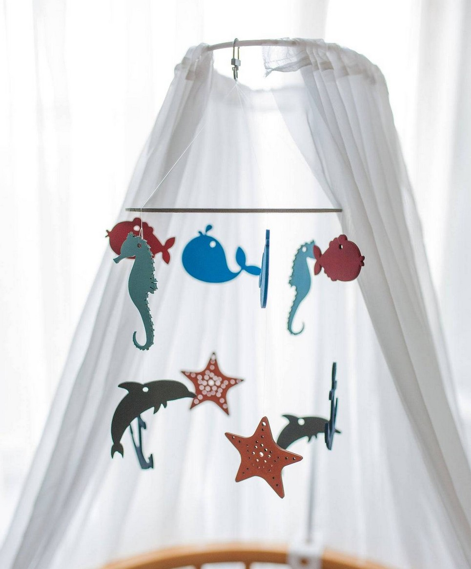 Nautical Wooden Baby Mobile