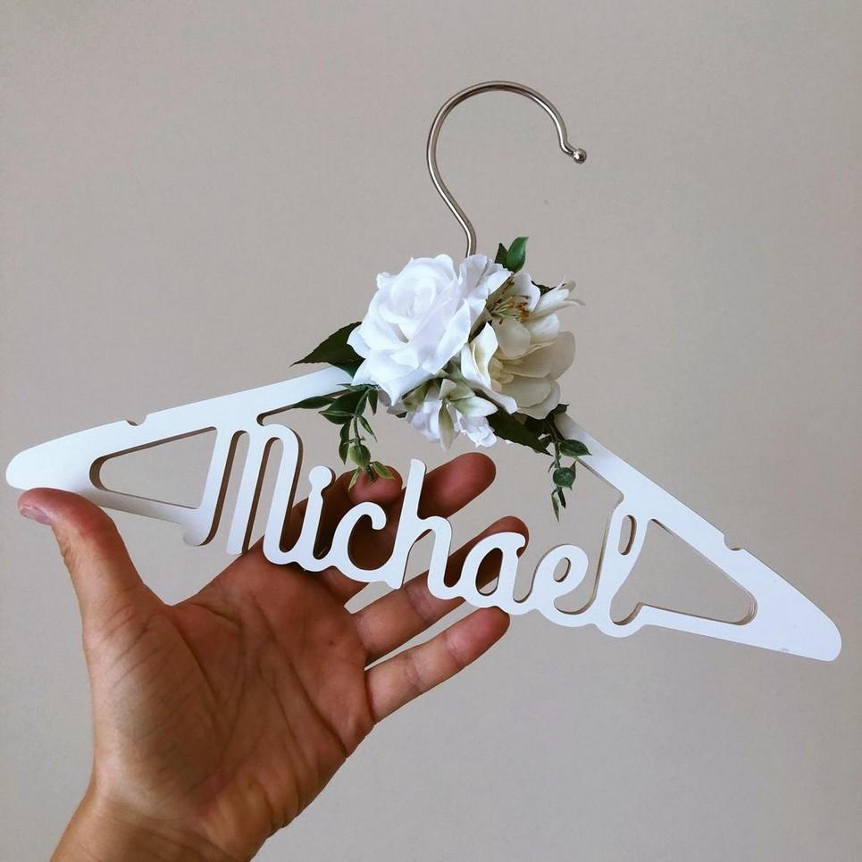 Personalised Christening Outfit Baby Hanger