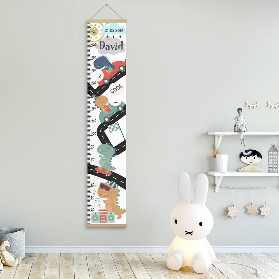 Personalised Dinosaur Child Growth Chart