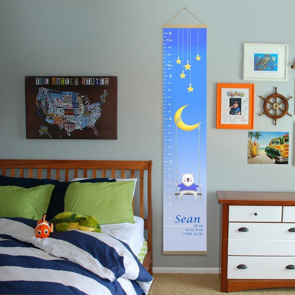 Personalised Moon and Stars Child Growth Chart